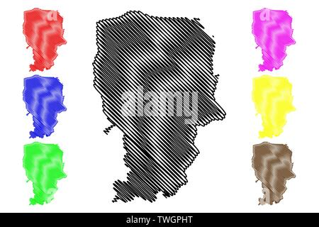 Amran Governorate (Governorates of Yemen, Republic of Yemen) map vector illustration, scribble sketch 'Amran map - Stock Photo