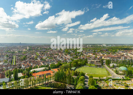 Aerial view of Brussels, Belgium - Stock Photo