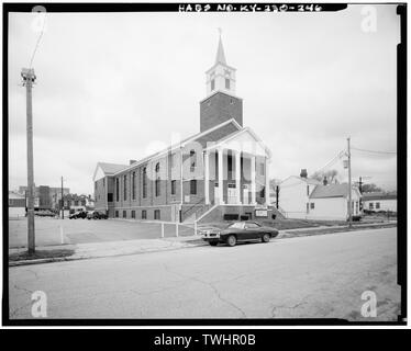 SEVENTH DAY ADVENTIST CHURCH AT 1942, AND 1948, NORTH FRONTS AND EAST SIDES - Russell Neighborhood, Bounded by Congress and Esquire Alley, Fifteenth and Twenty-first Streets, Louisville, Jefferson County, KY; Russell, Harvey Clarence - Stock Photo
