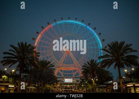 Orlando, Florida. May 26, 2019. Orlando Eye is a 400 feet tall ferris wheel,  in the heart of International Drive area Stock Photo