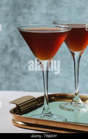 cognac and creme de menthe