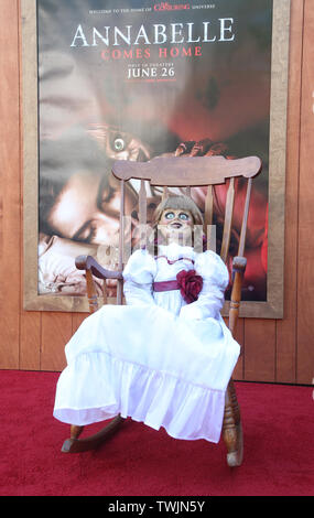 Westwood, CA. 20th June, 2019. Atmosphere, at the Premiere Of Warner Bros' 'Annabelle Comes Home' at The Regency Village Theatre in Westwood, California on June 20, 2019. Credit: Faye Sadou/Media Punch/Alamy Live News - Stock Photo
