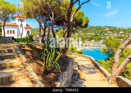 Coastal path from Palafrugell to Llafranc on beautiful summer day, Costa Brava, Spain - Stock Photo