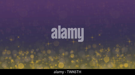 Graphic composition with golden Ornaments on textured background  for possible use as holiday greeting card - Stock Photo