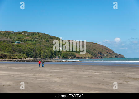Poppit sands near Cardigan on the coast of Pembrokeshire, Wales. - Stock Photo