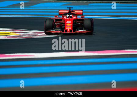 21st June 2019, Circuit Automobile Paul Ricard, Le Castellet, Marseille, France ; FIA Formula 1 Grand Prix of France, practise sessions; Sebastian Vet - Stock Photo