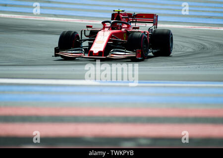 21st June 2019, Circuit Automobile Paul Ricard, Le Castellet, Marseille, France ; FIA Formula 1 Grand Prix of France, practise sessions; Charles Lecle - Stock Photo