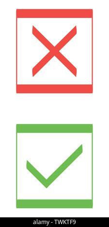 Check mark icons. Flat design style vector illustration - Stock Photo