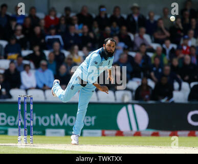 Emerald Headingley, Leeds, Yorkshire, UK. 21st June, 2019. ICC World Cup Cricket, England versus Sri Lanka; Adil Rashid of England Credit: Action Plus Sports/Alamy Live News - Stock Photo