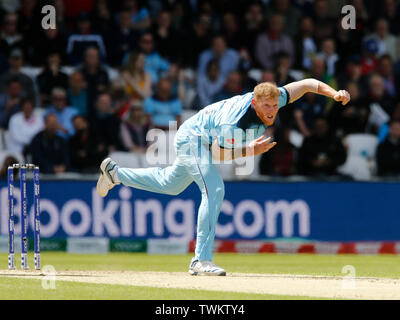 Emerald Headingley, Leeds, Yorkshire, UK. 21st June, 2019. ICC World Cup Cricket, England versus Sri Lanka; Ben Stokes of England Credit: Action Plus Sports/Alamy Live News - Stock Photo
