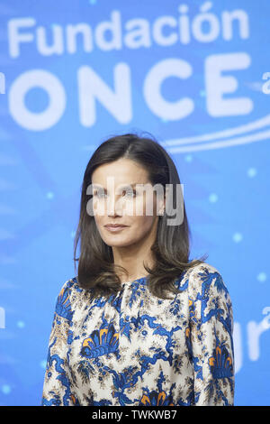 Madrid, Madrid, Spain. 21st June, 2019. Queen Letizia of Spain attends Delivery of the 5th edition of the Discapnet Awards at Auditorio EL Beatriz on June 21, 2019 in Madrid, Spain Credit: Jack Abuin/ZUMA Wire/Alamy Live News - Stock Photo