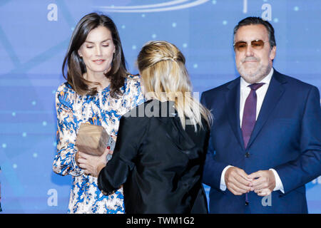 MADRID, SPAIN - June 21: Queen Letizia attends Delivery of the 5th edition of the Discapnet Awards at El Beatriz hotel in Madrid, Spain on the 21st of June of 2019. Credit: Jimmy Olsen/Media Punch ***NO SPAIN*** - Stock Photo