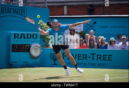 London, UK. 21st June, 2019. Stefanos Tsitsipas of Greece during the FEVER-TREE Tennis Championships 2019 at The Queen's Club, London, England on 21 June 2019. Photo by Andy Rowland. Credit: PRiME Media Images/Alamy Live News - Stock Photo