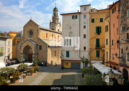 San Siro cathedral at Piazza San Siro, historical old town La Pigna, San Remo, Riviera di PonenteItaly, Liguria, Italy - Stock Photo