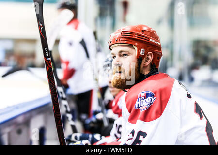 Melbourne, Australia. 21st June, 2019. JUNE 21: Zane Jones of Canada in the 2019 Ice Hockey Classic in Melbourne, Australia Credit: Chris Putnam/ZUMA Wire/Alamy Live News - Stock Photo