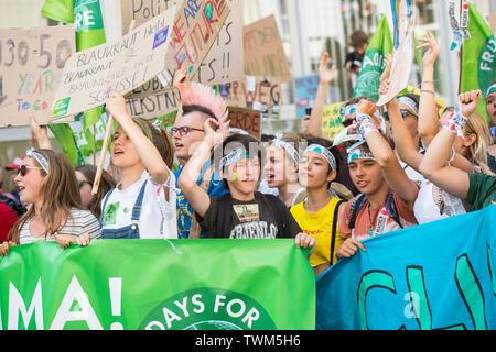 """""""Fridays for Future"""" demonstration in Aachen, germany at 21 of 2019."""