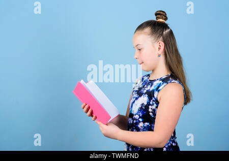 art director. workbooks for writing. school diaries for making notes. small girl with pink note book. school child with notepad. smart trendy kid read note folder. little business lady. small boss. - Stock Photo