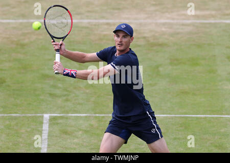 London, UK. 21st June 2019. Jamie Murray (GBR) at the net during the Fever Tree Tennis Championships at the Queen's Club, West Kensington on Friday 21st June 2019. (Credit: Jon Bromley | MI News) Credit: MI News & Sport /Alamy Live News - Stock Photo