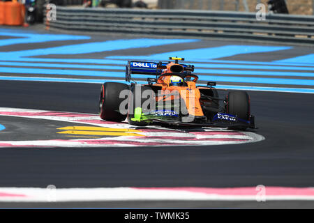 Marseille, France. 21st Jun 2019. FIA Formula 1 Grand Prix of France, practice sessions; McLaren, Lando Norris Credit: Action Plus Sports Images/Alamy Live News - Stock Photo