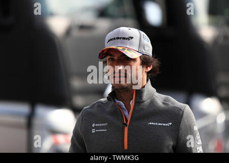 Marseille, France. 21st Jun 2019. FIA Formula 1 Grand Prix of France, practice sessions; McLaren, Carlos Sainz Credit: Action Plus Sports Images/Alamy Live News - Stock Photo