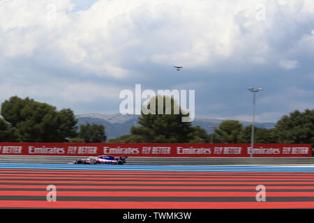 Marseille, France. 21st Jun 2019. FIA Formula 1 Grand Prix of France, practice sessions; SportPesa Racing Point, Sergio Perez Credit: Action Plus Sports Images/Alamy Live News - Stock Photo
