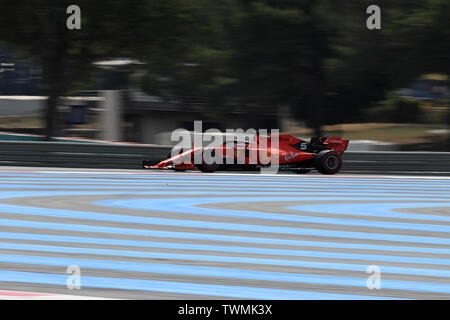 Marseille, France. 21st Jun 2019. FIA Formula 1 Grand Prix of France, practice sessions; Scuderia Ferrari, Sebastian Vettel Credit: Action Plus Sports Images/Alamy Live News - Stock Photo
