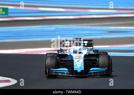 Marseille, France. 21st Jun 2019. FIA Formula 1 Grand Prix of France, practice sessions; Williams Racing, Nicholas Latifi Credit: Action Plus Sports Images/Alamy Live News - Stock Photo