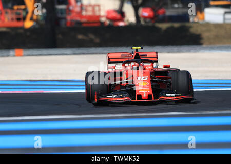 Marseille, France. 21st Jun 2019. FIA Formula 1 Grand Prix of France, practice sessions; Scuderia Ferrari, Charles Leclerc Credit: Action Plus Sports Images/Alamy Live News - Stock Photo