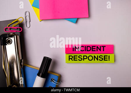 Incident Response! on sticky notes isolated on white background. - Stock Photo