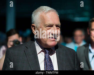 Brexit Party rally with Nigel Farage and Brexit Party candidates from across the country standing in the European elections, Olympia, London Featuring: Václav Klaus Where: London, United Kingdom When: 21 May 2019 Credit: Wheatley/WENN - Stock Photo
