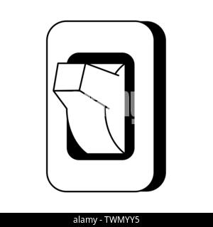 Light switch isolated cartoon symbol in black and white - Stock Photo