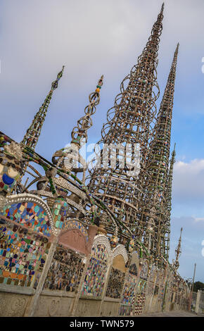 Watts Towers, Watts Los Angeles California United States - Stock Photo