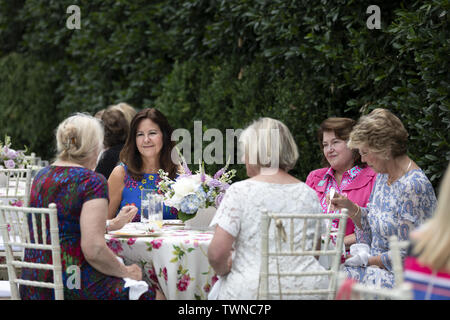 Washington, United States Of America. 20th June, 2019. Second Lady Karen Pence talks with spouses of United States Senators during a reception at the Vice PresidentÕs Residence Thursday, June 20, 2019, in Washington, DC People: Second Lady Karen Pence Credit: Storms Media Group/Alamy Live News - Stock Photo