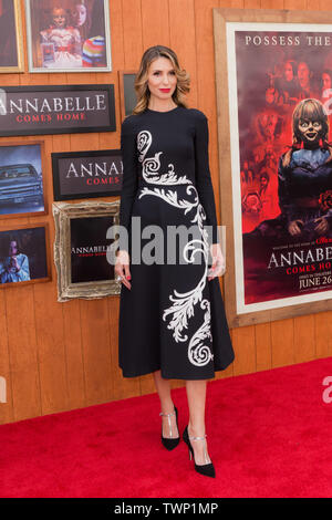 WESTWOOD, LOS ANGELES, CALIFORNIA, USA - JUNE 20: Natalia Safran arrives at the Los Angeles Premiere Of Warner Bros' 'Annabelle Comes Home' held at Regency Village Theatre on June 20, 2019 in Westwood, Los Angeles, California, United States. (Photo by Rudy Torres/Image Press Agency) - Stock Photo