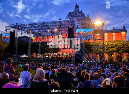 Symphony Orchestra concert, part of Zagreb Classic Open Air Festival, Zagreb Croatia, June 21, 2019 - Stock Photo