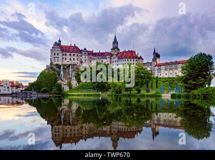 Hohenzollern Castle, Schloss, Sigmaringen, Baden-Württemberg - Stock Photo