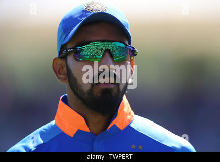 India's KL Rahul during the ICC Cricket World Cup group stage match at the Hampshire Bowl, Southampton. - Stock Photo