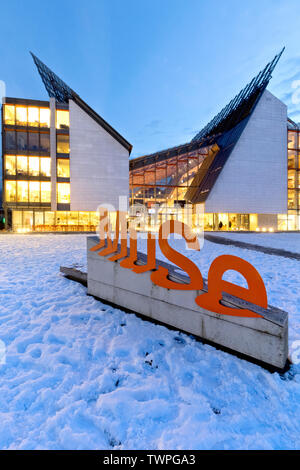 Science Museum MUSE in Trento. Trentino Alto-Adige, Italy, Europe. The building was designed by the architect Renzo Piano. - Stock Photo