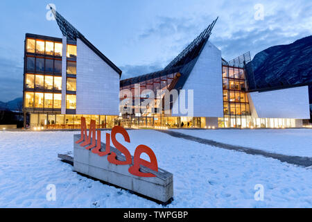 Entrance to the MUSE Science Museum in Trento. Trentino Alto-Adige, Italy, Europe. - Stock Photo