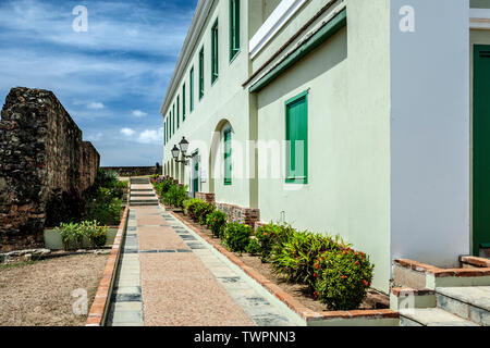 Fort Conde de Mirasol Museum (ca. 1845), Isabel Segunda, Vieques, Puerto Rico - Stock Photo