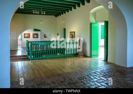 Main hall, Fort Conde de Mirasol Museum (ca. 1845), Isabel Segunda, Vieques, Puerto Rico - Stock Photo