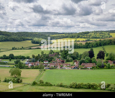 Turville village in the chiltern hills. Buckinghamshire, England - Stock Photo