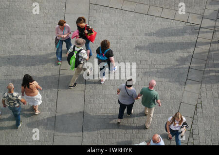 Dortmund, NRW, Germany. 22nd June, 2019. Believers and visitors can be seen during the German Protestant Church Congress 2019 (GER: Deutscher Evangelischer Kirchentag 2019) in Dortmund, North Rhine-Westphalia Credit: Jan Scheunert/ZUMA Wire/Alamy Live News - Stock Photo