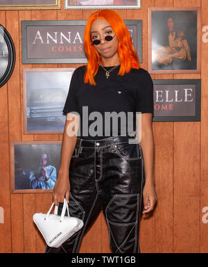 Westwood, CA - June 20, 2019: Khaoi attends the Premiere Of Warner Bros' 'Annabelle Comes Home' held at Regency Village Theatre - Stock Photo