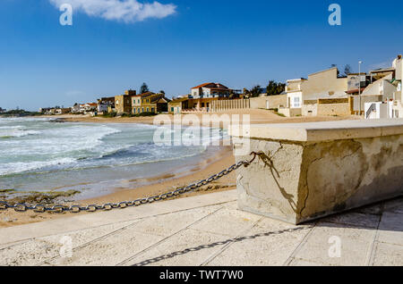 Sicily: characteristic seaside village with villas by the sea - Stock Photo
