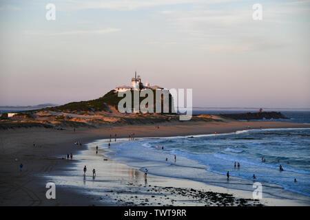 Nobbys Beach Newcastle Australia on a Summer Afternoon - Stock Photo