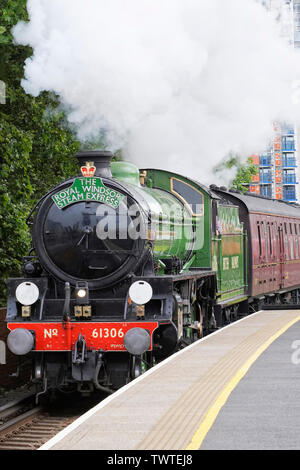 61306 Mayflower on the inaugural run of The Royal Windsor Steam Express on the 4th June 2019. - Stock Photo