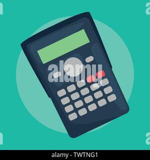 calculator back to school supplies vector illustration - Stock Photo