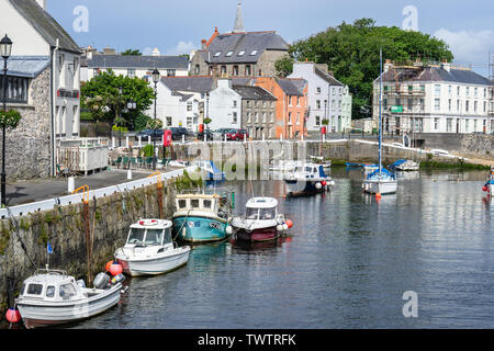 Castletown,Isle of Man, June 16, 2019. Castletown Harbour - Stock Photo