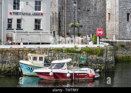 Castletown,Isle of Man, June 16, 2019. Castletown Harbour - Stock Photo